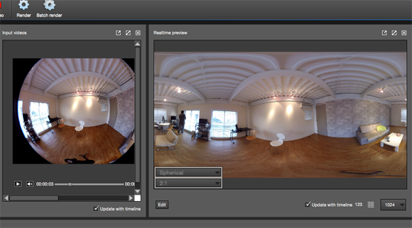 Going back to Autopano Video Pro.