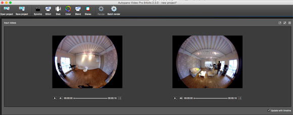 Dropping shot footage to Autopano Video Pro.
